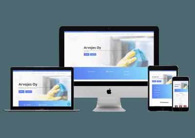 WordPress kotisivut yritykselle Arvojes Oy