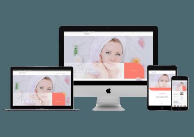 WordPress kotisivut yritykselle Kauneushoitola Anna-Carin