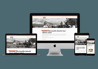 WordPress kotisivut yritykselle Huovisen Navettasali