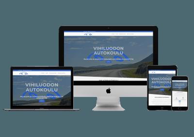 WordPress kotisivut yritykselle Vihiluodon Autokoulu
