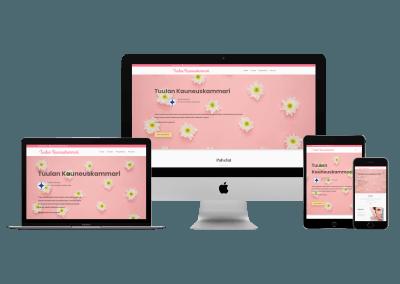 WordPress kotisivut yritykselle Tuulan Kauneuskammari