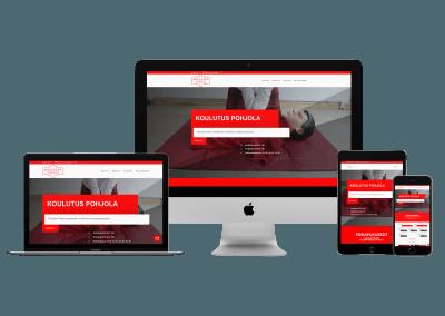 WordPress kotisivut yritykselle Koulutus Pohjola