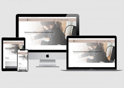WordPress kotisivut yritykselle Sisustussuunnittelija Juliaana Kangasniemi