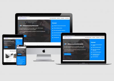 WordPress kotisivut yritykselle RT-Rakennusmarkkinointi Oy