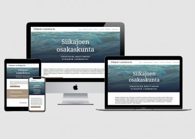 WordPress kotisivut yritykselle Siikajoen Osakaskunta