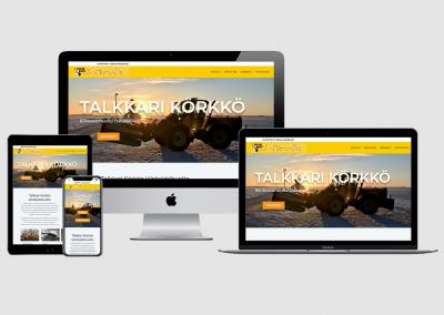 WordPress kotisivut yritykselle Talkkari Körkkö