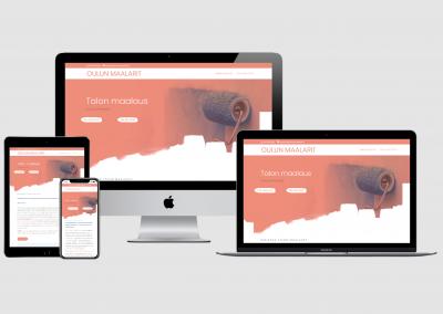 WordPress kotisivut yritykselle Oulun Maalarit