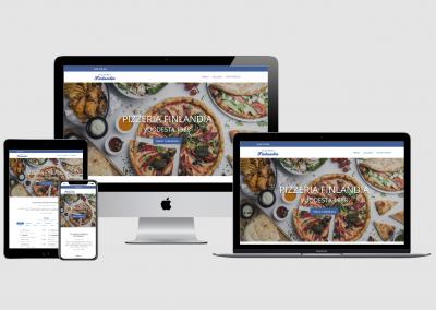 WordPress kotisivut yritykselle Pizzeria Finlandia