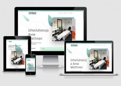 WordPress kotisivut yritykselle Urheiluhieroja Anne Miettinen