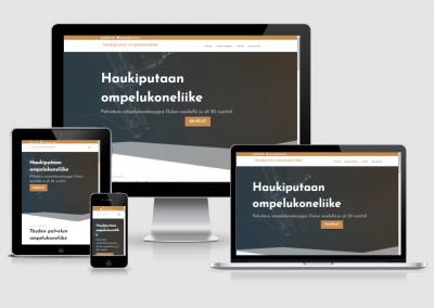WordPress kotisivut yritykselle Haukiputaan ompelukoneliike