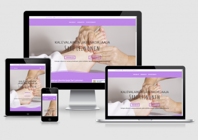 WordPress kotisivut yritykselle Hierontapalvelu Sari Leinonen