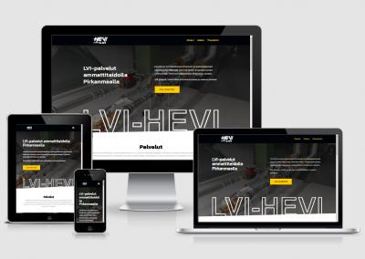 WordPress kotisivut yritykselle LVI-HEVI