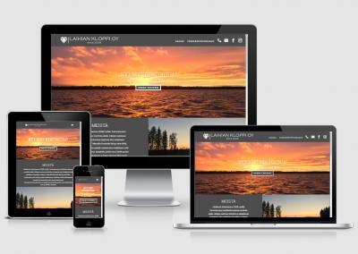 WordPress kotisivut yritykselle Laihian Kloppi Oy