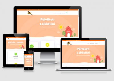WordPress kotisivut yritykselle Päiväkoti Loikkeliini