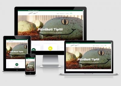 WordPress kotisivut yritykselle Päiväkoti Tipitii