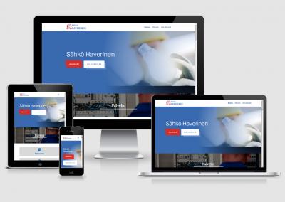 WordPress kotisivut yritykselle Sähkö Haverinen