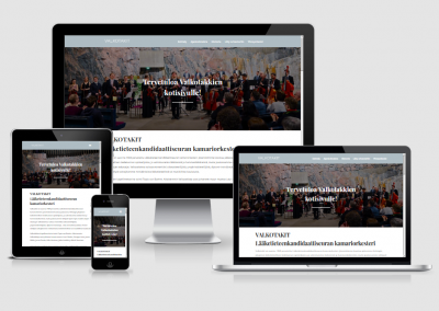 WordPress kotisivut yritykselle Valkotakit