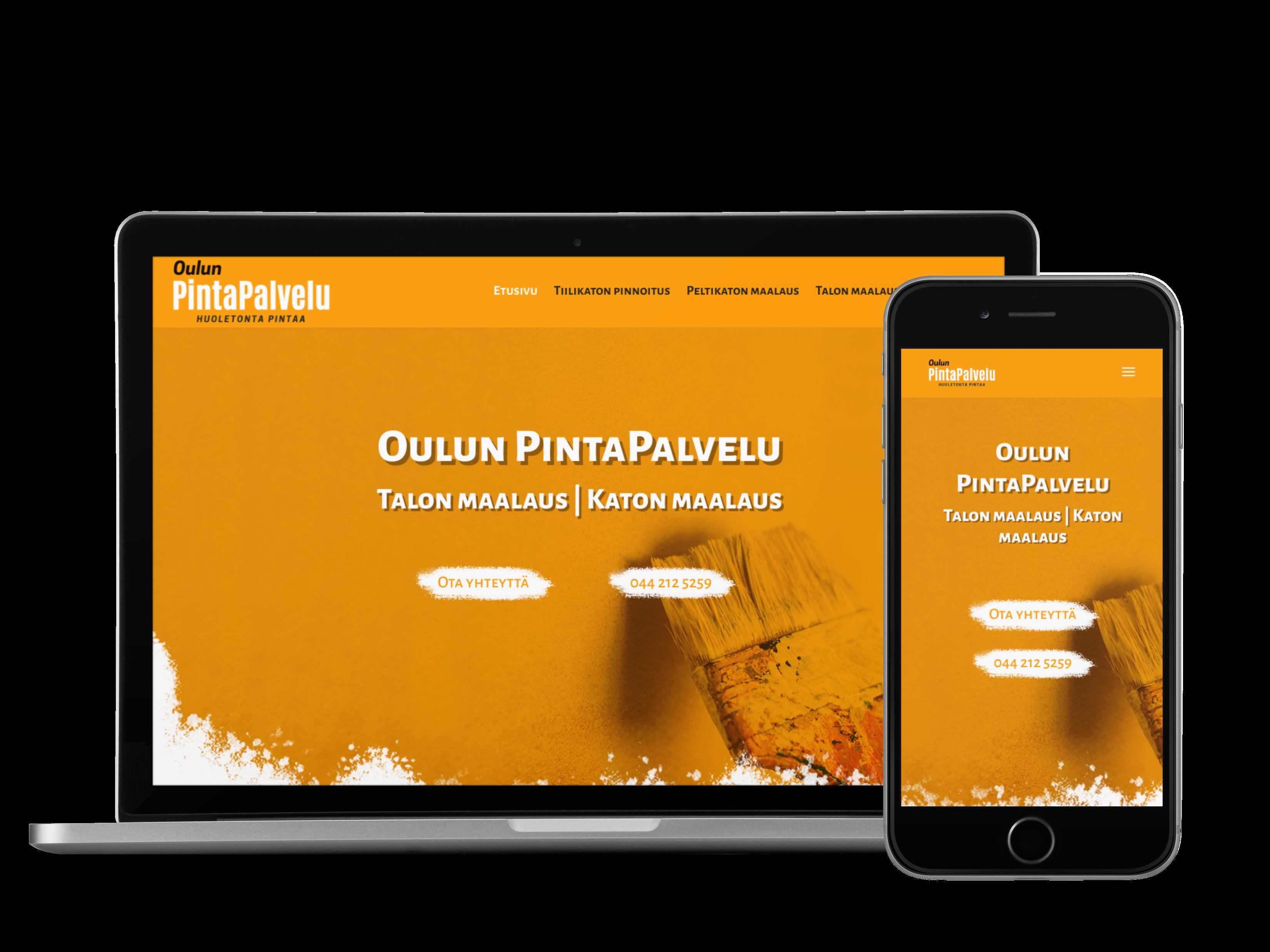 Kotisivut yritykselle Oulun PintaPalvelu.