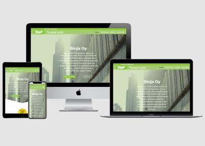 WordPress kotisivut yritykselle Binja Oy