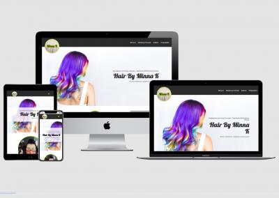 WordPress kotisivut yritykselle Hair by Minna K