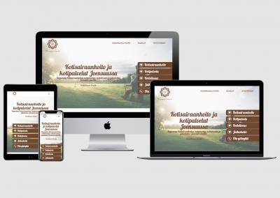 WordPress kotisivut yritykselle Hoivapalvelu Hilppa Oy