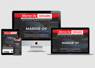 WordPress kotisivut yritykselle Marive Oy