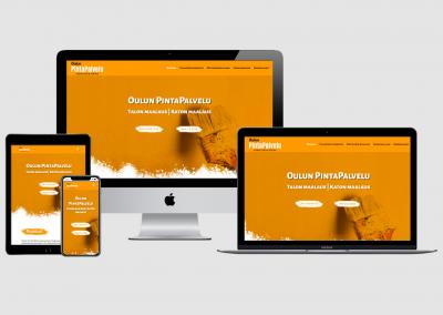 WordPress kotisivut yritykselle Oulun PintaPalvelu Oy