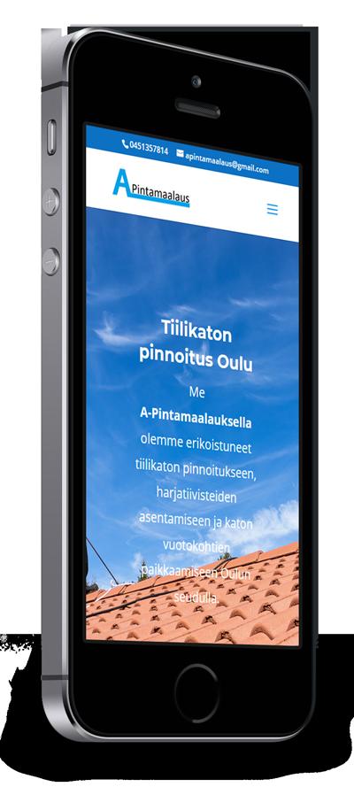 Mobiilioptimointi, kotisivut yritykselle A-Pintamaalaus toteuttaa Kotisivusi.fi.