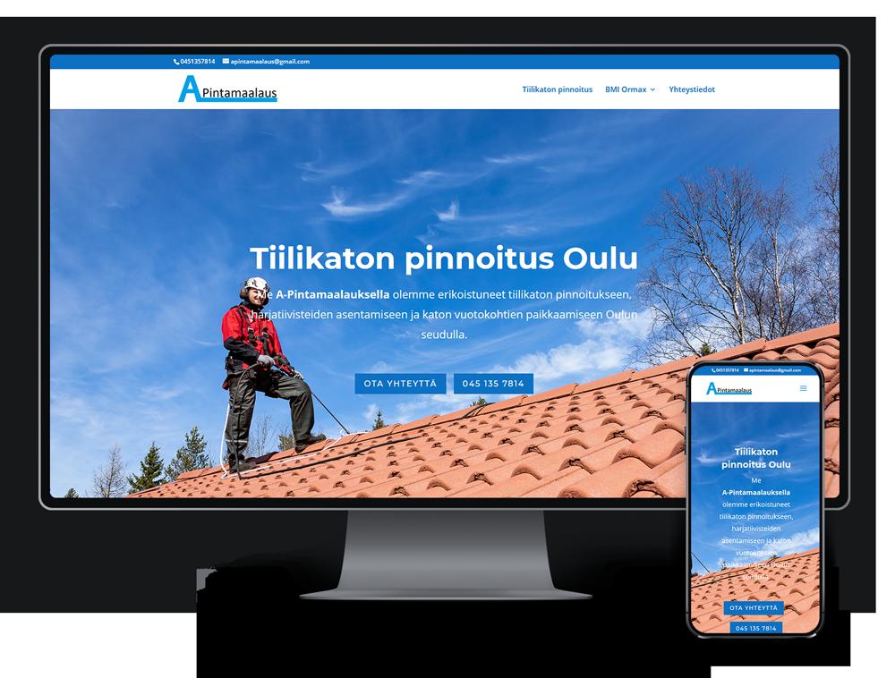 Kotisivut yritykselle A-Pintamaalaus referenssi.