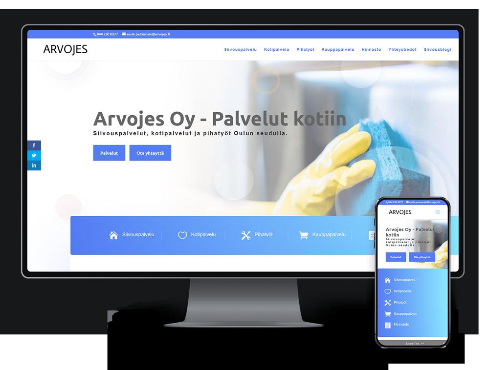 Kotisivut yritykselle Arvojes Oy referenssi.