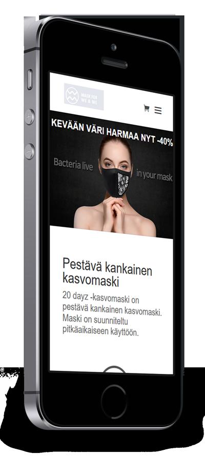 Mobiilioptimointi, kotisivut yritykselle A. Y. Mirai Oy toteuttaa Kotisivusi.fi.