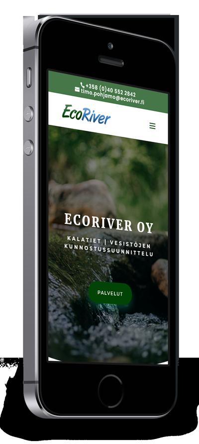 Mobiilioptimointi, kotisivut yritykselle Ecoriver Oy toteuttaa Kotisivusi.fi.