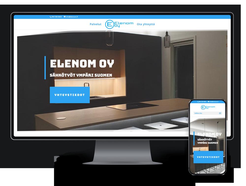 Kotisivut yritykselle Elenom Oy referenssi.