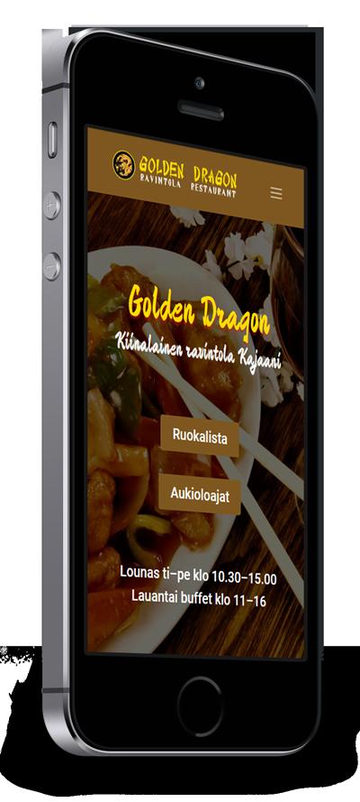 Mobiilioptimointi, kotisivut yritykselle Ravintola Golden Dragon toteuttaa Kotisivusi.fi.