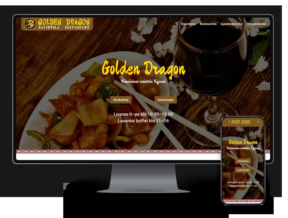 Kotisivut yritykselle Ravintola Golden Dragon referenssi.