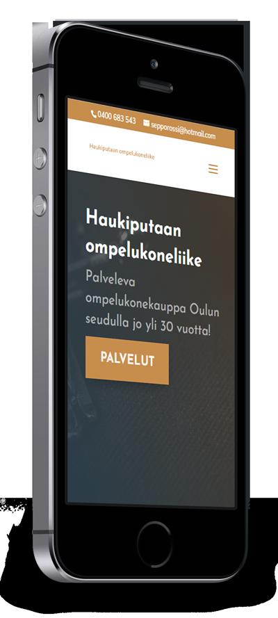 Mobiilioptimointi, kotisivut yritykselle Haukiputaan ompelukoneliike toteuttaa Kotisivusi.fi.