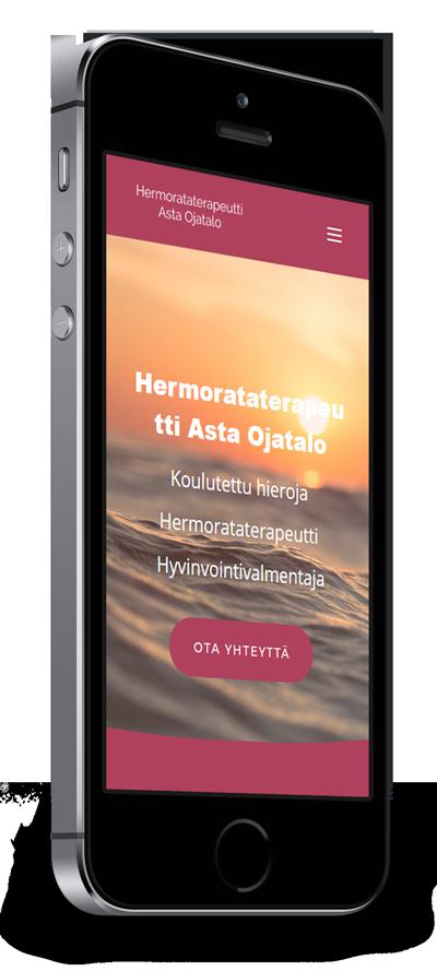 Mobiilioptimointi, kotisivut yritykselle Hermorataterapeutti Asta Ojatalo toteuttaa Kotisivusi.fi.