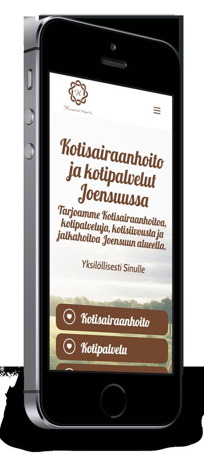 Mobiilioptimointi, kotisivut yritykselle Hoivapalvelu Hilppa Oy toteuttaa Kotisivusi.fi.