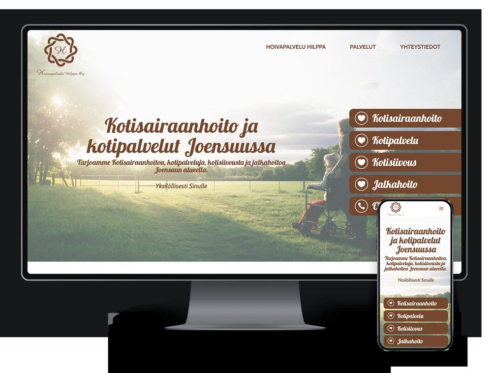 Kotisivut yritykselle Hoivapalvelu Hilppa Oy referenssi.