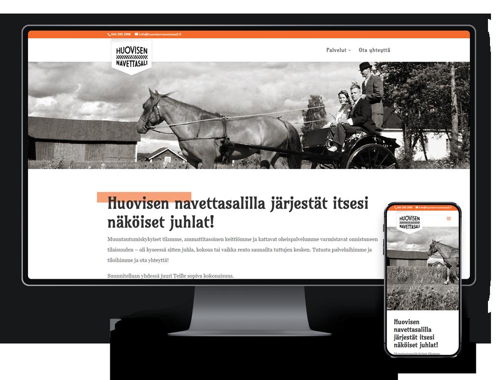 Kotisivut yritykselle Huovisen Navettasali referenssi.
