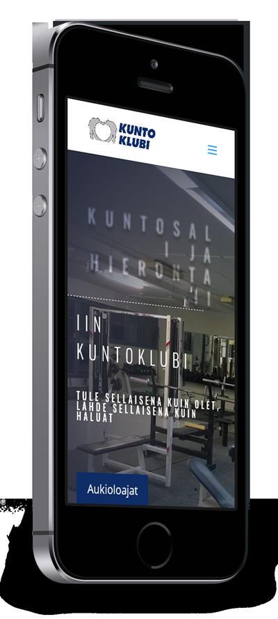 Mobiilioptimointi, kotisivut yritykselle Iin Kuntoklubi toteuttaa Kotisivusi.fi.
