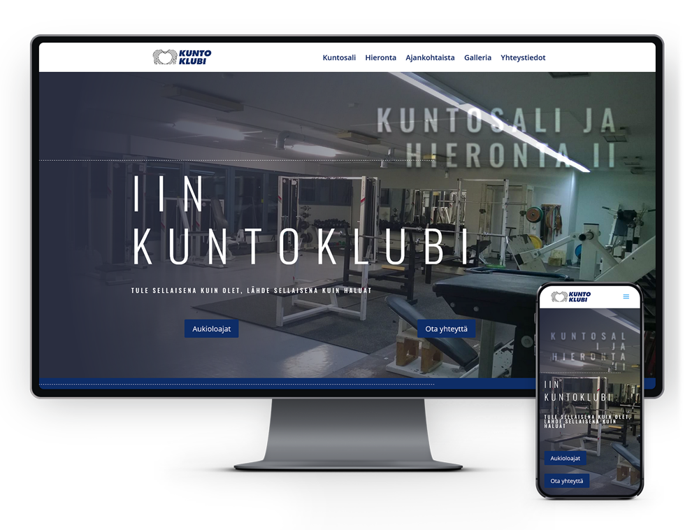 Kotisivut yritykselle Iin Kuntoklubi referenssi.