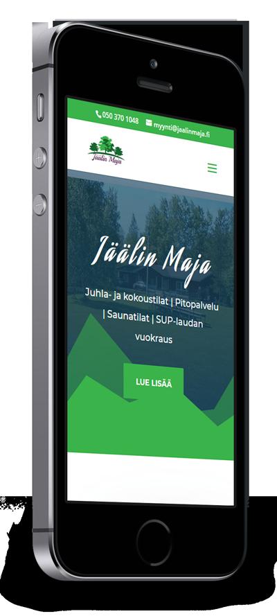 Mobiilioptimointi, kotisivut yritykselle Jäälin Maja toteuttaa Kotisivusi.fi.