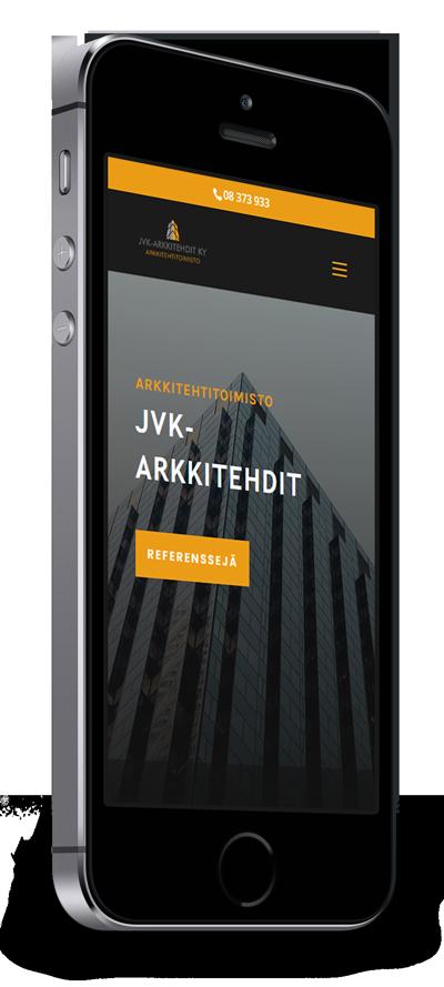 Mobiilioptimointi, kotisivut yritykselle JVK-Arkkitehdit toteuttaa Kotisivusi.fi.