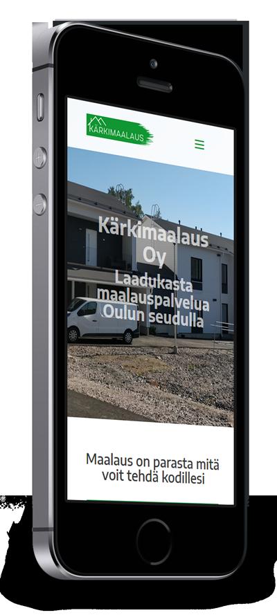 Mobiilioptimointi, kotisivut yritykselle Kärkimaalaus Oy toteuttaa Kotisivusi.fi.