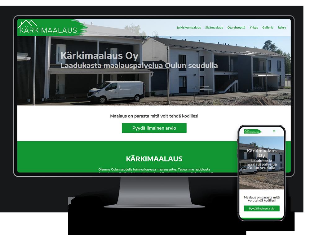 Kotisivut yritykselle Kärkimaalaus Oy referenssi.