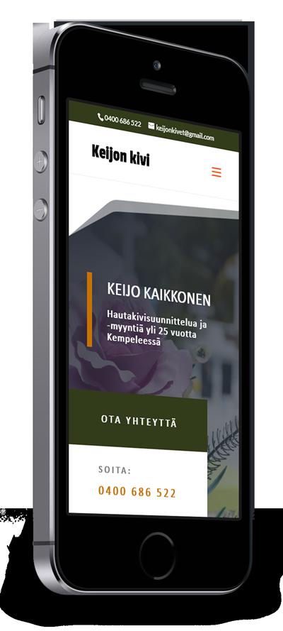 Mobiilioptimointi, kotisivut yritykselle Keijon Kivi Keijo Kaikkonen toteuttaa Kotisivusi.fi.