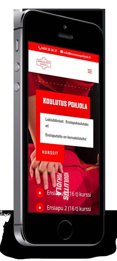 Mobiilioptimointi, kotisivut yritykselle Koulutus Pohjola toteuttaa Kotisivusi.fi.