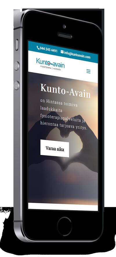 Mobiilioptimointi, kotisivut yritykselle Kunto-Avain toteuttaa Kotisivusi.fi.