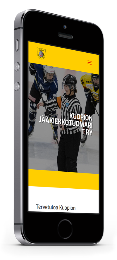 Mobiilioptimointi, kotisivut yritykselle Kuopion Jääkiekkotuomarit toteuttaa Kotisivusi.fi.